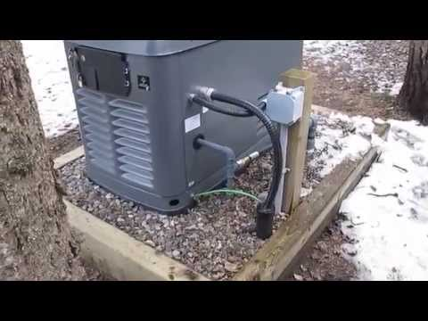 "17 KW Honeywell Automatic Standby Generator ""Exercising"""