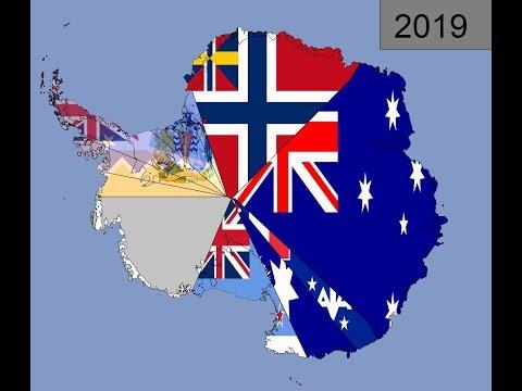 Antarctica: Timeline Of Claim Flags: 1815 - 2019