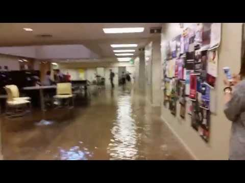 Flash flood at BYU-Idaho. Manwaring Center flooding! . July 15th 2014
