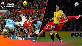 STUNNING Acrobatic, Overhead & Bicycle Kick Goals | Premier League Edition