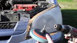 видео Как полировать фары машины