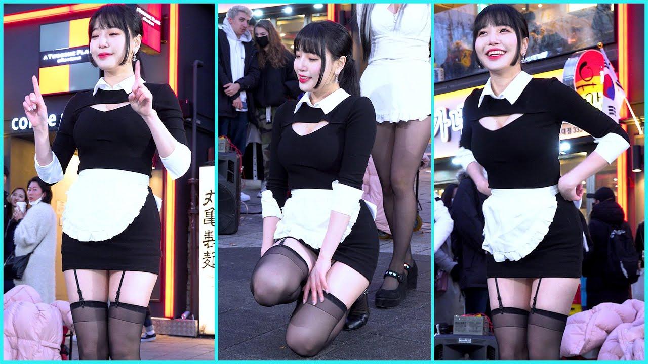 200216 흰색앞치마 스타후르츠 수련 댄스커버 하트쉐이커 4K 직캠 '홍대공연' by 직관중