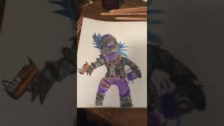 Pele de corvo do Fortnite | Desenhando personagens Fortnite |