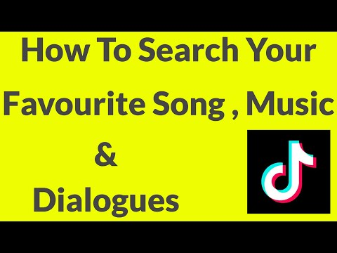 How To Search Songs,Music & Dialogues In Your Tik Tok App