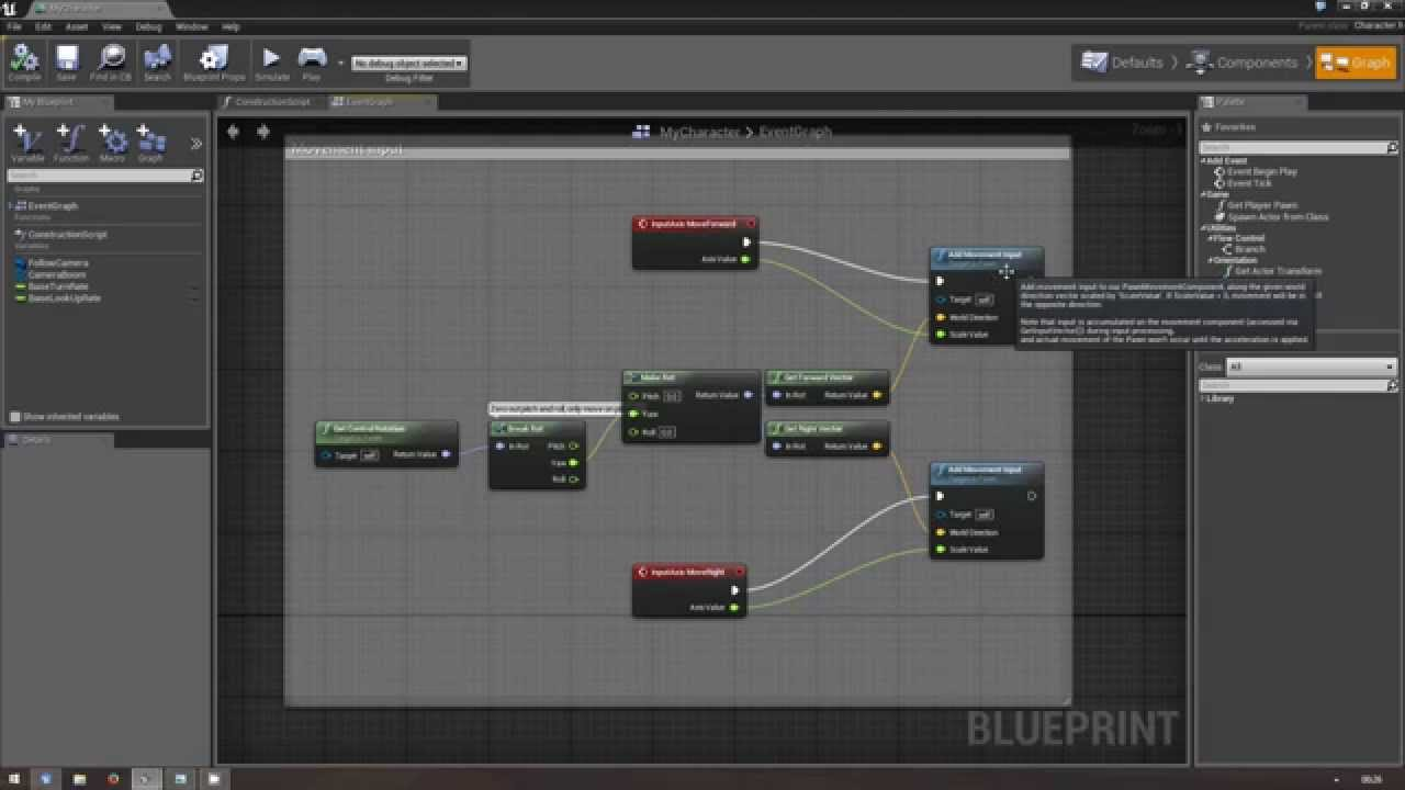 Unreal Engine 4 - Creating an auto-adjusting third-person camera