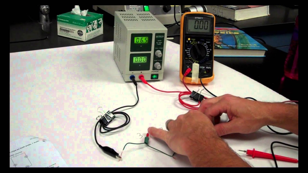 Dc Circuits Lab Youtube Electrical Series Circuit