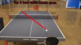 Top 5 Best Table Tennis/ Ping Pong Games For IOS | HD