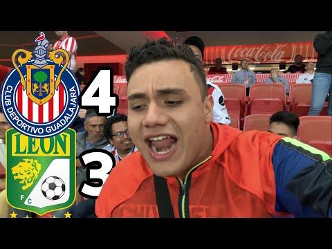 *PARTIDAZO* CHIVAS vs LEÓN 4-3 Fiesta de GOLES *SIN NORMA😢*| DESDE estadio AKRON