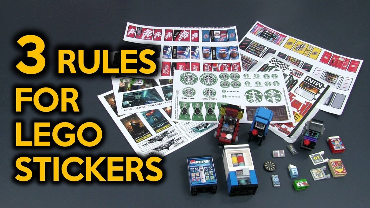 New 3 rules for custom lego stickers for my lego city
