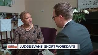 Judge Vonda Evans defends short work schedule inside Wayne County court