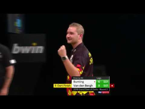 NINE-DARTER! Dimitri Van Den Bergh vs Stephen Bunting - 2018 Grand Slam