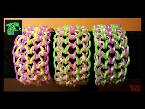 dragon scale cuff bracelet on monster tail easy 6 pegs