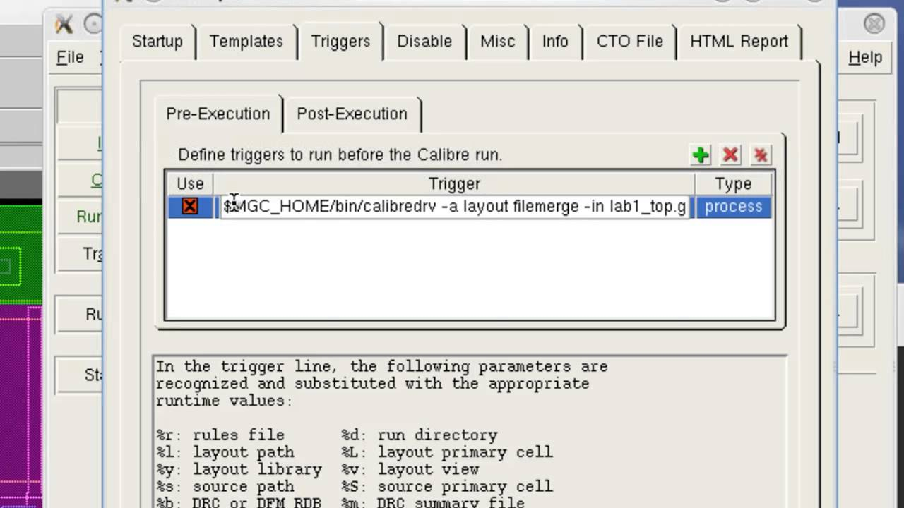 How to automatically merge layout before Verification with Calibre  Interactive Pre-trigger