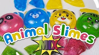 Crystal Mud Animal Slimes mix Glitter and Colors