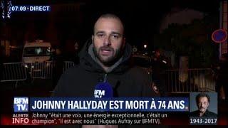 L'important dispositif de sécurité devant le domicile de Johnny Hallyday, à Marnes-la-Coquette