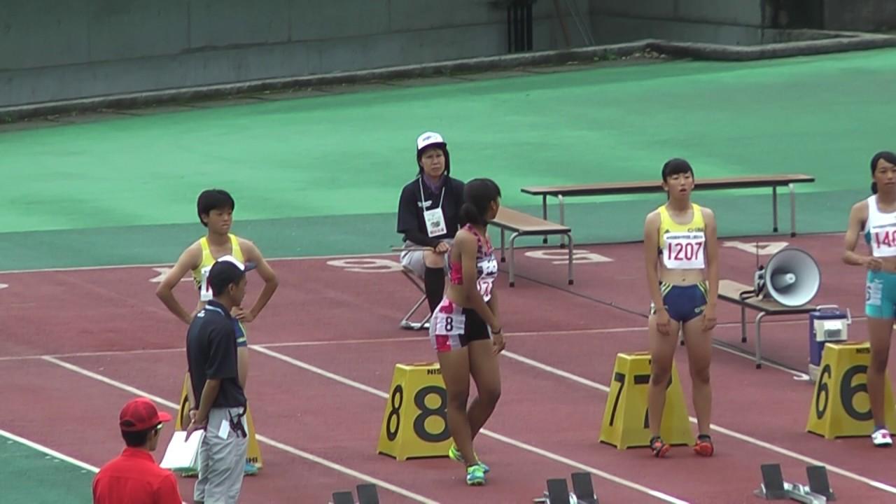 H29 関東中学校陸上競技大会 3年女子100m 決勝