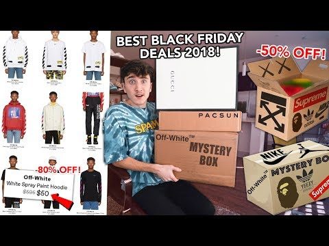 THE BEST DESIGNER/STREETWEAR BLACK FRIDAY DEALS OF 2018!