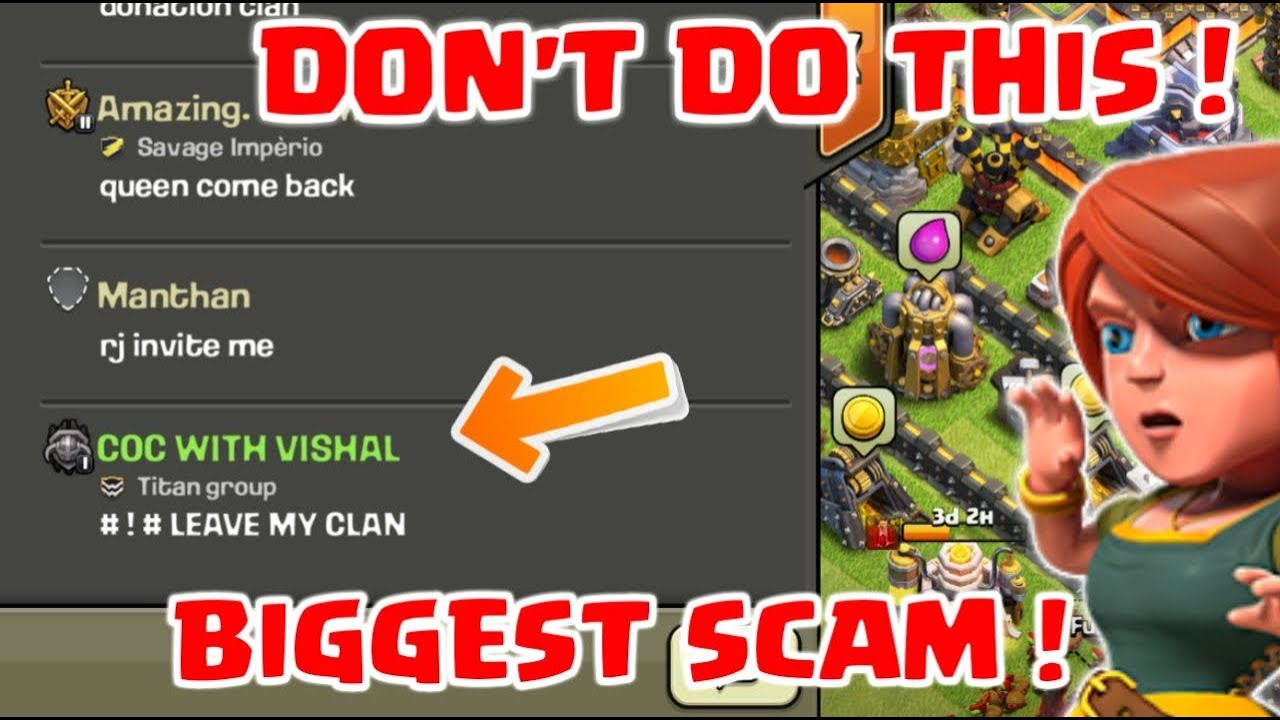 DON'T DO THIS ! YOU WILL LOST YOUR CLAN & ID in Clash Of Clans !