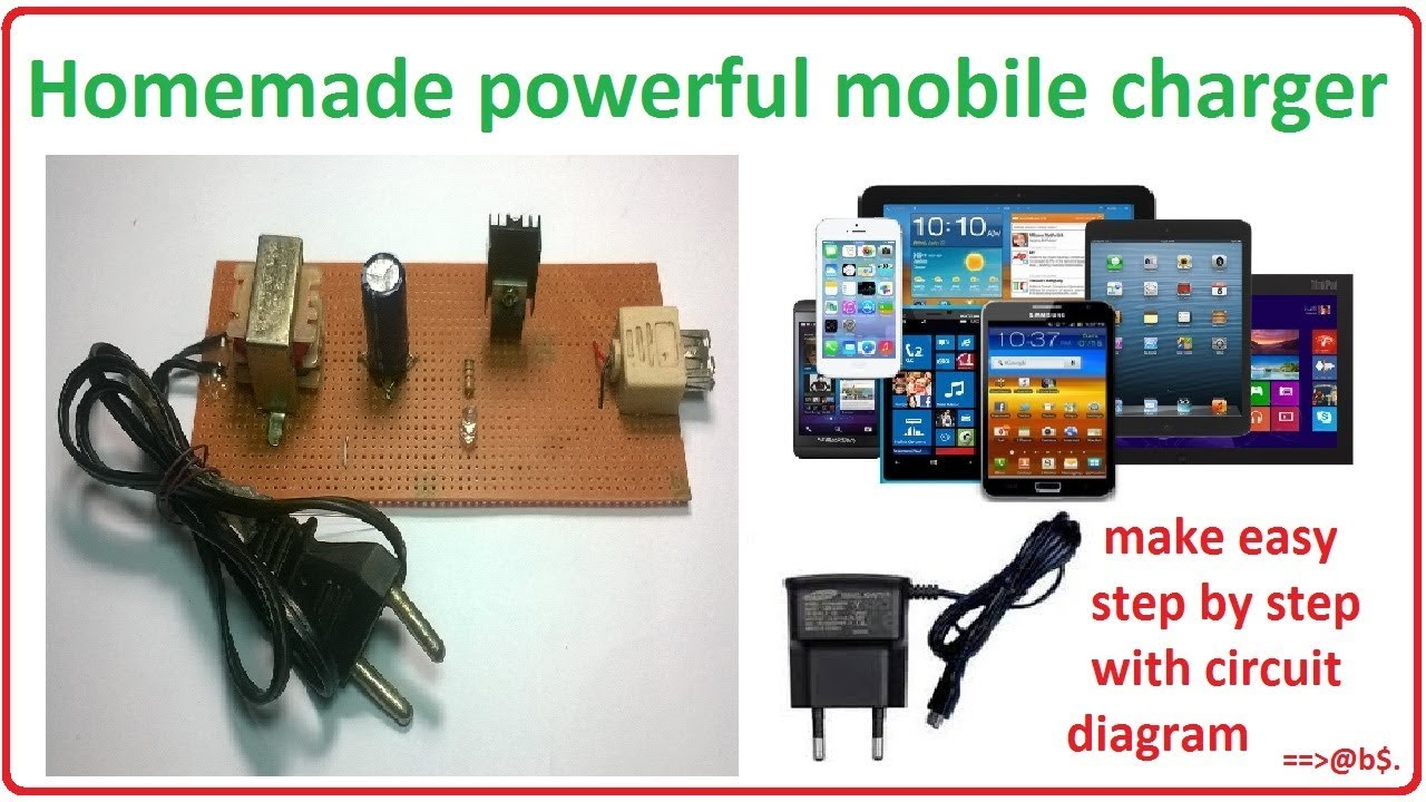 How to make mobile charger at home  homemade cell phone charger  YouTube