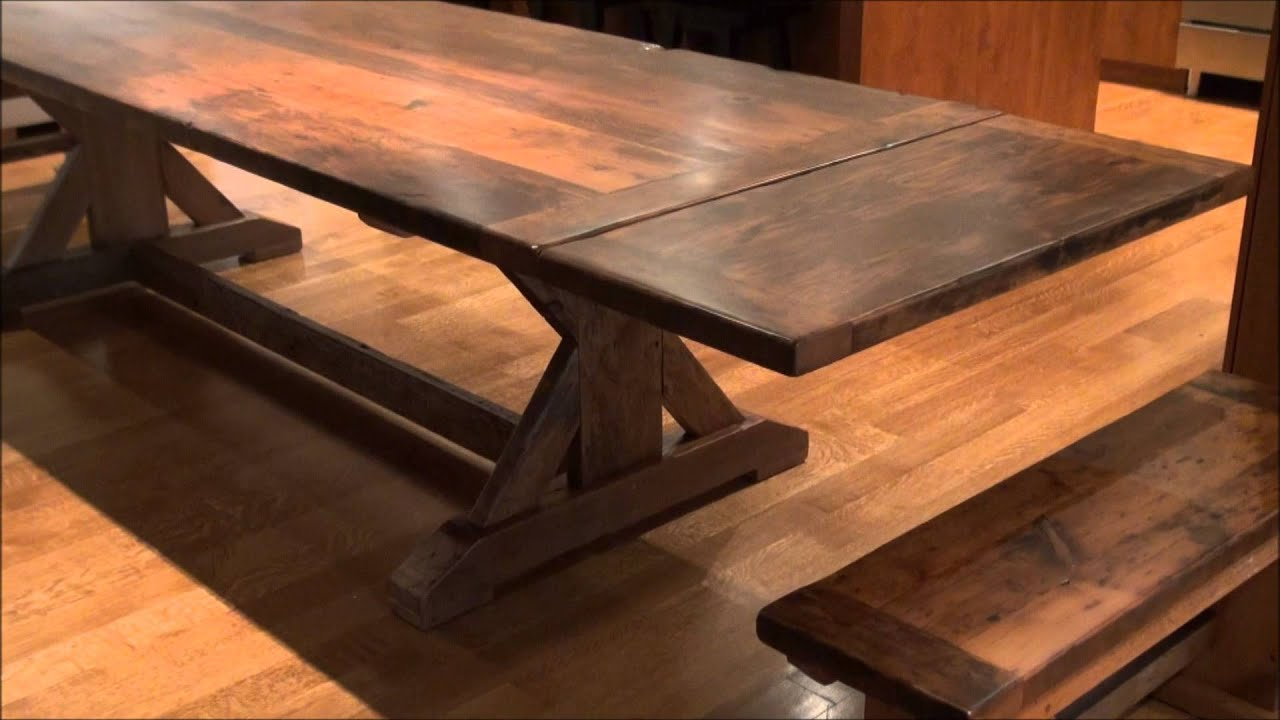 Reclaimed Wood Sawbuck Tables Ontario YouTube