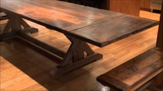Reclaimed Wood Sawbuck Tables Ontario
