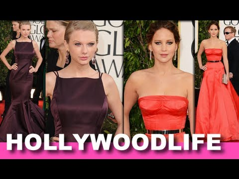 Taylor Swift, Jennifer Lawrence - Best And Worst Fashion 2013 Golden Globes