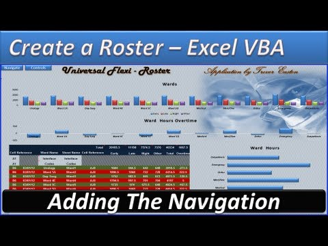 Roster - Create a Roster -Roster Template - Hours and Overtime Navigation