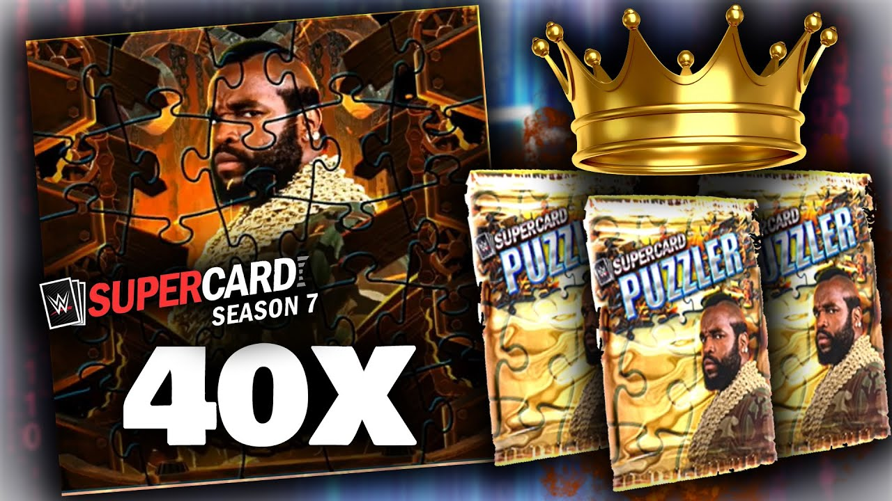 Download 40+ PUZZLERS IN ONE VIDEO!! - HUGE PUZZLER PACK OPENING - WWE SUPERCARD S7