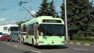 GOMEL TROLLEYBUSES BELARUS JUNE 2011