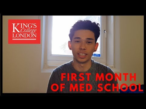 MY FIRST MONTH OF MEDICAL SCHOOL AT KING'S COLLEGE LONDON VLOG