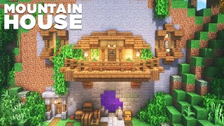 Minecraft   Mountain Hoขse Tutorial [How to build]