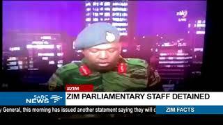 Zimbabwe parliamentary staff detained