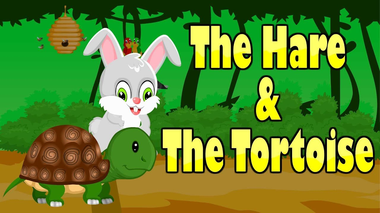The Hare And The Tortoise Short Moral Story Rabbit And Turtle Kid2teentv Youtube