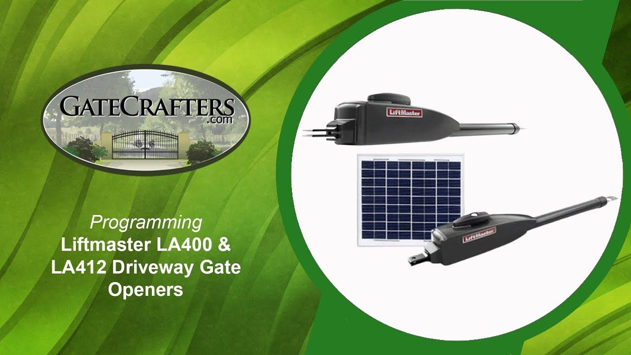 programing liftmaster la400 la412 driveway gate openers [ 1280 x 720 Pixel ]