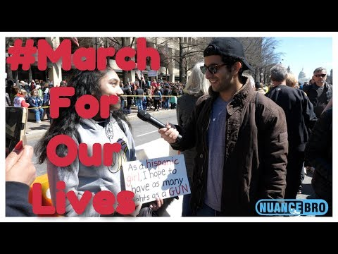 Interviewing Gun Control Protesters At March For Our Lives P