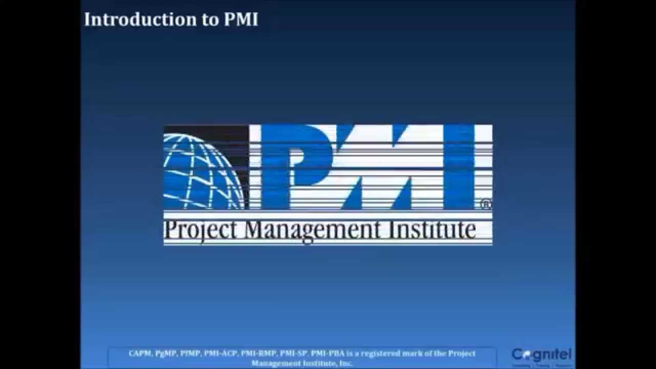 Introduction To Online Pmp Certification Training Youtube