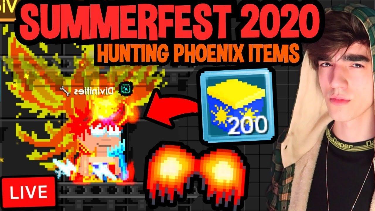 HUNTING PHOENIX ITEMS - SUMMERFEST 2020 🔴[LIVE] Growtopia