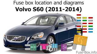 Fuse box location and diagrams: Volvo S60 (2011-2014) - YouTube | 2014 Volvo S60 Fuse Box |  | YouTube