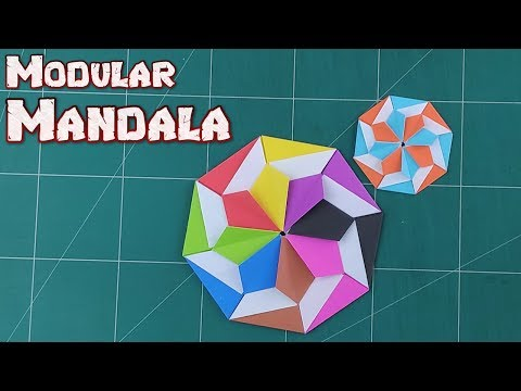 How to Make A Mandala Flower Star - Origami Modular Paper Star Tutorials | DIY Paper Craft Ideas