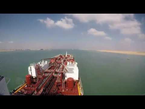 Suez canal transit in 5 min