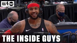 Carmelo Anthony Joins the Inside Guys After Delivering A Vintage Performance Vs. Philly | NBA on TNT