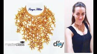Колье из Бисера Мастер Класс «ОСЕННИЕ ВЕТВИ» Beaded necklace master class/ Ожерелье из бисера!