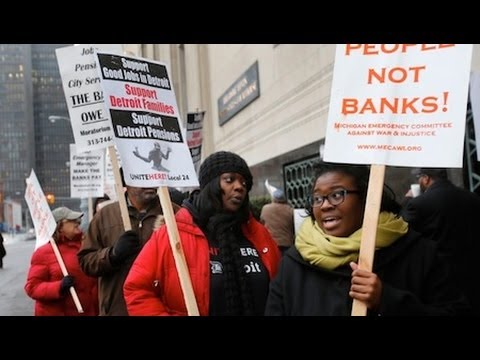 Detroit Enters Bankruptcy As Pensions and Benefits Go on Chopping Block