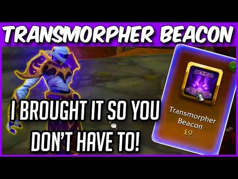 In-Game WoW Toys For REAL MONEY! Transmorpher Beacon   Only Usable One Third Of An Hour!