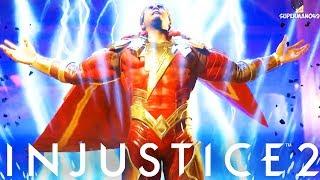 "THE GOD OF DAMAGE!! 670 DAMAGE COMBO - Injustice 2 ""Black Adam"" Gameplay"