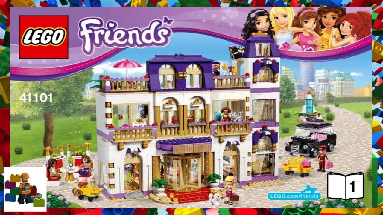 Lego Instructions Lego Friends 41101 Heartlake Grand Hotel Book
