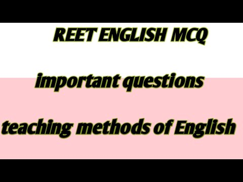 #methods of teaching English|| important questions||reet English language teaching methods