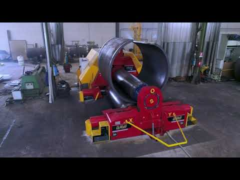 Plate roll   Heavy duty 3 roll variable axis for pressure vessels production