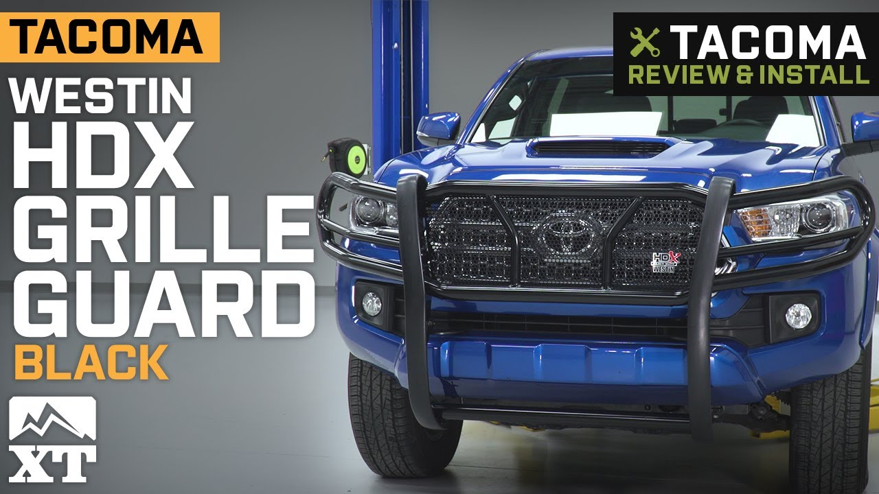 Westin Hdx Grille Guard >> 2016-2019 Tacoma Westin HDX Grille Guard Review & Install ...