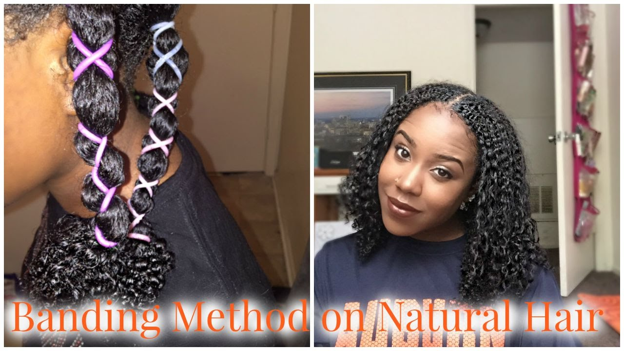stretch hair styles banding method on hair how to stretch a wash and 5578